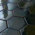 Glazed tiles, 100x115x5 mm, Nr: HEX_10x10_2